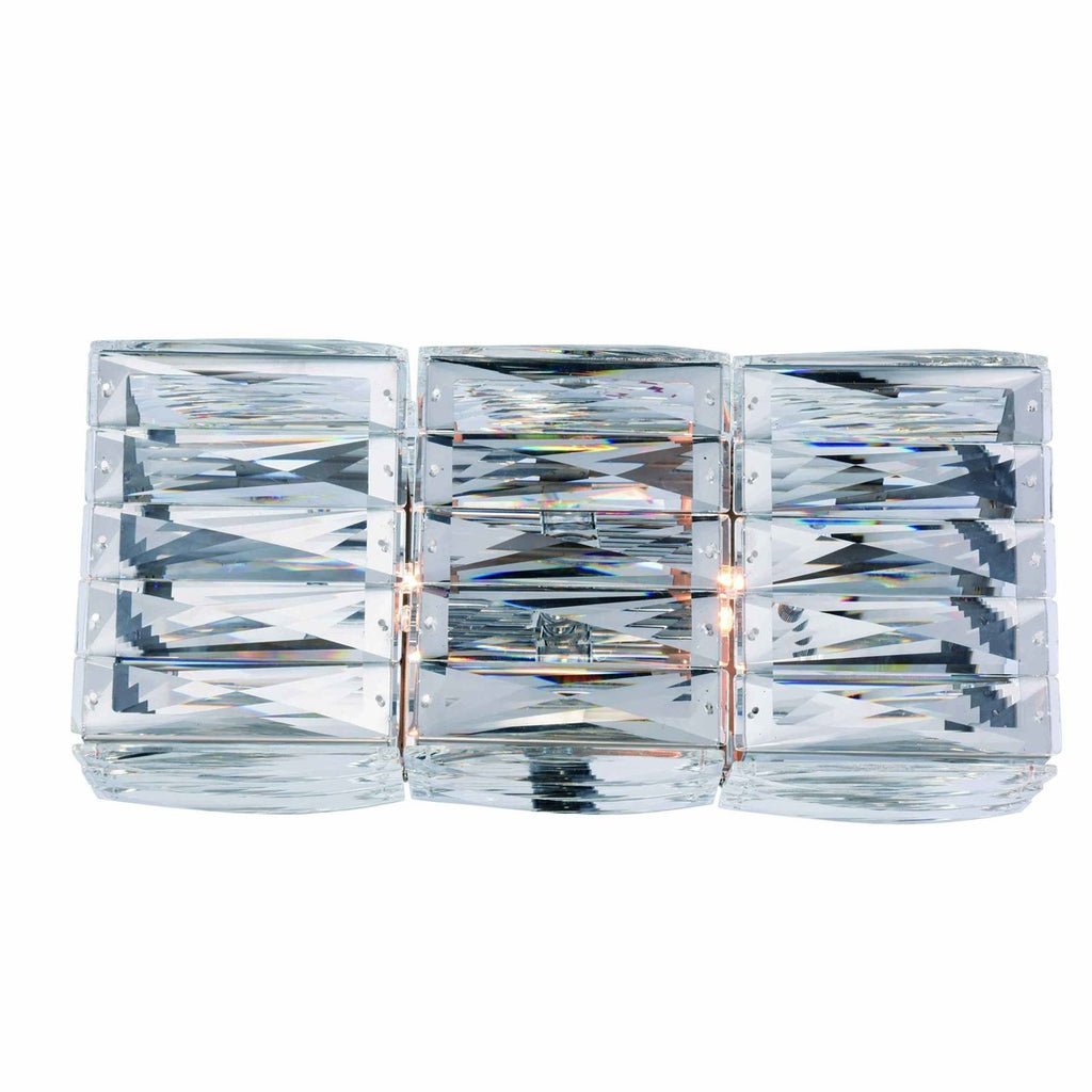 ZC121-2117W14C/RC - Regency Lighting: Cuvette 2 light Chrome Vanity Wall Sconce Clear Royal Cut Crystal