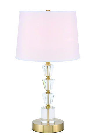 ZC121-TL3028BR - Regency Decor: Jean 1 light Brass Table Lamp