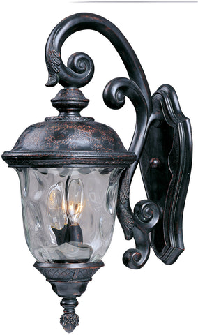 Carriage House DC 3-Light Outdoor Wall Lantern Oriental Bronze - C157-3497WGOB