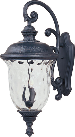 Carriage House DC 3-Light Outdoor Wall Lantern Oriental Bronze - C157-3498WGOB