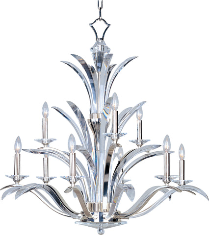 Paradise 9-Light Chandelier Plated Silver - C157-39946BCPS