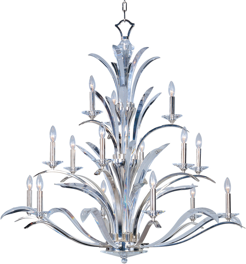Paradise 15-Light Chandelier Plated Silver - C157-39947BCPS