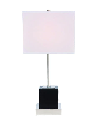 ZC121-TL3037PN - Regency Decor: Lana 1 light Polished Nickel Table Lamp