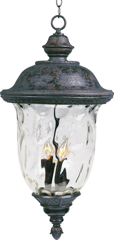Carriage House VX 3-Light Outdoor Hanging Lan Oriental Bronze - C157-40427WGOB