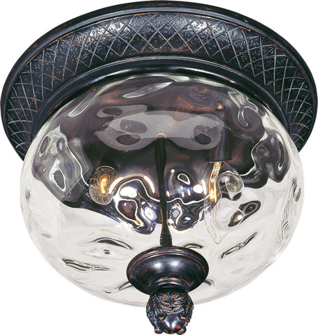 Carriage House 2-Light Outdoor Ceiling Mount Oriental Bronze - C157-40429WGOB