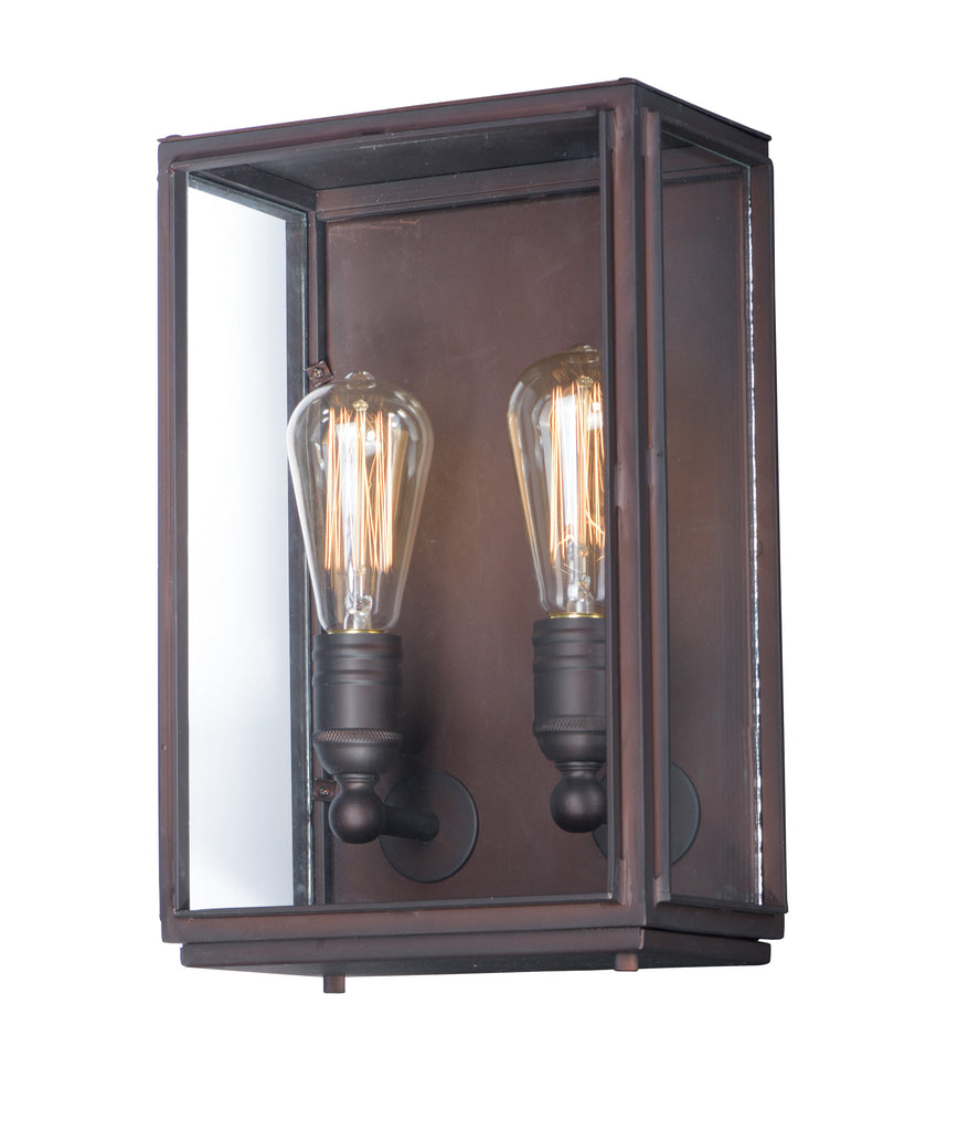 Pasadena 2-Light Outdoor Wall Lantern Oil Rubbed Bronze - C157-4067CLOI