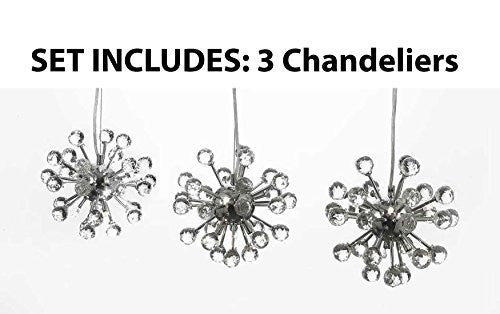 "Modern Contemporary Empress Crystal (Tm) Chandelier Lighting Light Fixture H 20-51"" W 9"" **Set Of 3*** - G7-983/6-Set Of 3"