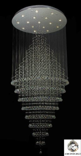 "New Modern Contemporary Chandelier ""Rain Drop"" Chandeliers H 100"" W 41"" (Over 8Ft Tall) - J10-B6/26075/16"