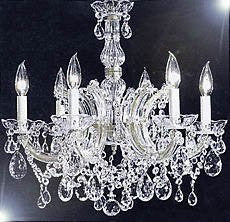 "Maria Theresa Chandelier Crystal Lighting Chandeliers H 20"" W 22"" - F83-Silver/7002/6"