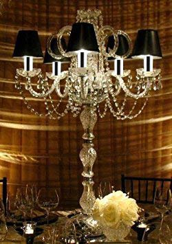 Set of 20 Wedding CANDELABRAS Candelabra Centerpiece CENTERPIECES W/Chrome Sleeves - Set of 20 - EY-1X7L-IG22