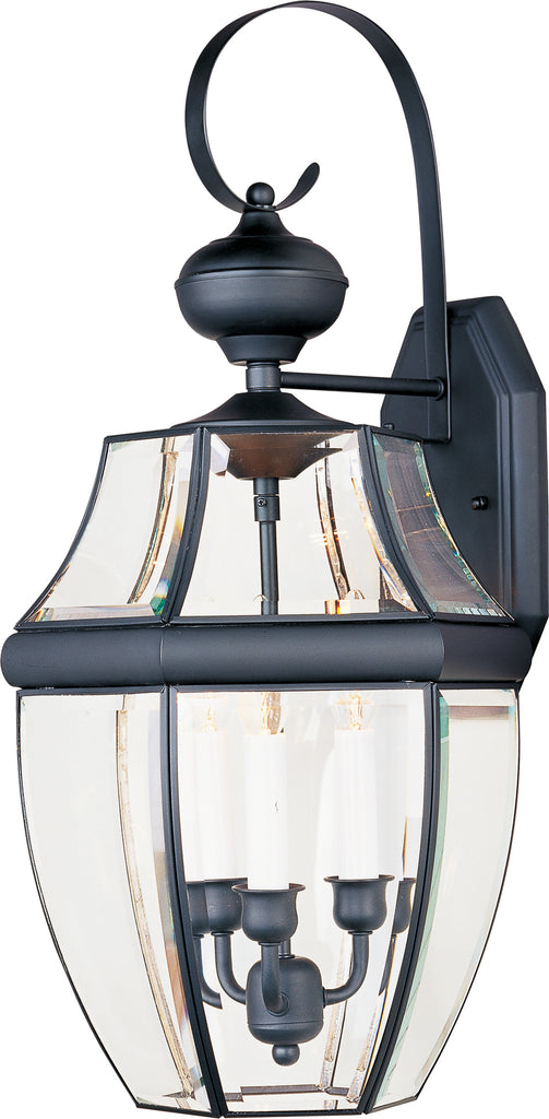 South Park 3-Light Outdoor Wall Lantern Black - C157-4192CLBK