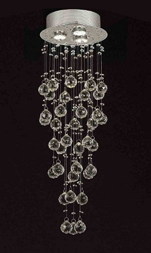 Modern contemporary chandelier rain drop chandeliers lighting with 40mm crystal balls h31xw10