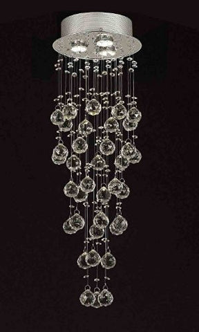 "Modern Contemporary Chandelier ""Rain Drop"" Chandeliers Lighting With 40Mm Crystal Balls! H31""Xw10"" - F93-815/3"