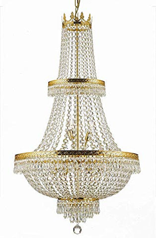 "Made with Swarovski Crystal French Empire Crystal Chandelier Lighting H50"" X W24"" Good for Foyer, Entryway, Family Room, Living Room and More! - J10-CG/26091/15SW"