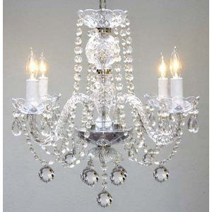 "Murano Venetian Style All Crystal Chandelier H17"" X W17"" - A46-B6/275/4"