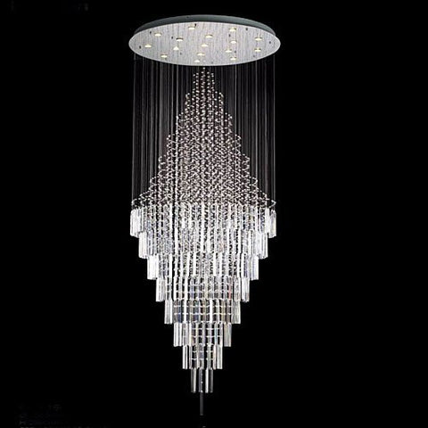 "New Modern Contemporary Chandelier ""Rain Drop"" Chandeliers H 100"" W 41"" (Over 8Ft Tall) - G902-6874-16"