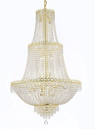 "French Empire Crystal Chandelier Chandeliers Lighting Good For Dining Room Foyer Entryway Family Room And More H48"" X W30"" - Cjd-Cg/2176/30"