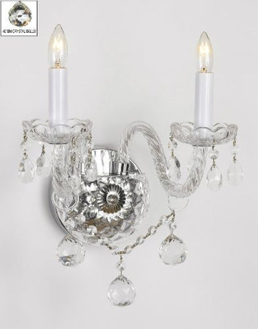 Murano Venetian Style All-Crystal Wall Sconce With Crystal Balls - G46-B6/2/386