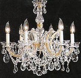 "Maria Theresa Chandelier Crystal Lighting Chandeliers H 20"" W 22"" Trimmed With Spectra (Tm) Crystal - Reliable Crystal Quality By Swarovski - F83-7002/6Sw"