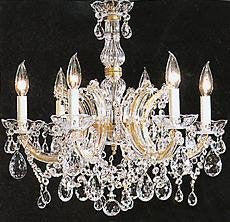 "Maria Theresa Chandelier Crystal Lighting Chandeliers H 20"" W 22"" Trimmed With Spectra (Tm) Crystal - Reliable Crystal Quality By Swarovski - J10-26066/6Sw"
