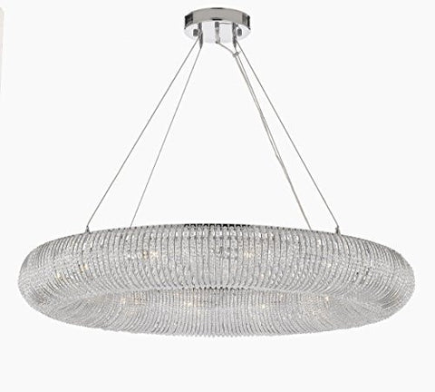 "Crystal Halo Chandelier Modern / Contemporary Lighting Floating Orb Chandelier 41"" Wide - Good For Dining Room Foyer Entryway Family Room And More - Gb104-3132/12"