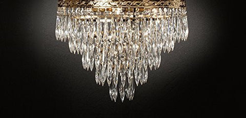 "Empress Crystal (Tm) Lighting Flush Chandeliers H12"" W17"" - G93-Flush/Cg/864/4"