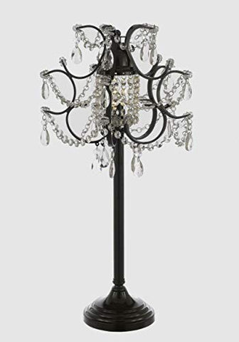 Versailles Iron and Crystal Table Lamp Desk Lamp Bedside Lamp Lighting - T204-592/1 LAMP