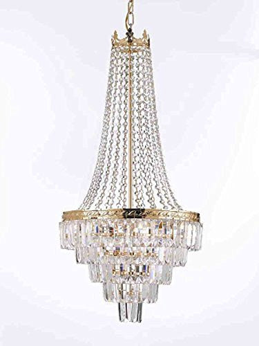"French Empire Crystal Chandelier Lighting Empress Crystal (Tm) H30"" X W17"" - J10-CG/B8/26026/4"