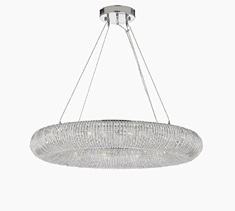 "Crystal Halo Chandelier Modern/Contemporary Lighting Floating Orb 32"" Wide- Good for Dining Room, Foyer, Entryway, Family Room and More - GB104-3132/9"