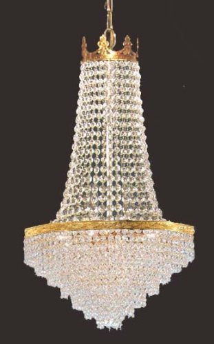 "French Empire Crystal Chandelier W/ Swarovski Crystal H30"" X W17"" - J10-Cg/26026/4Sw"