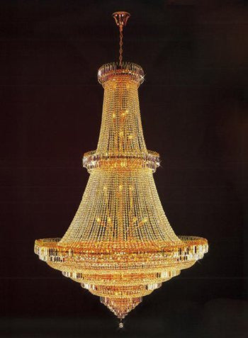 "French Empire Empress Crystal(Tm) Chandelier Lighting H92"" X W62"" - Perfect For An Entryway Or Foyer - H905-Lys-8815"