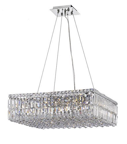 "Modern Contemporary Square Empress Crystal (Tm) Chandelier Lighting W24"" H7.5"" L24"" - Cjd-Cs/2185/24"