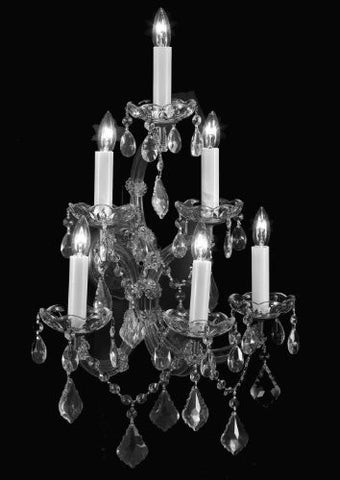 "Maria Theresa Wall Sconce Crystal Lighting H24"" X W16"" - A83-Silver/6/66"