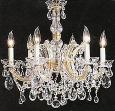 "Maria Theresa Chandelier Crystal Lighting Chandeliers H 20"" W 22"" - F83-7002/6"