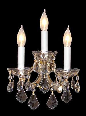 "Swarovski Crystal Trimmed Chandelier Maria Theresa Wall Sconce Lighting H14"" x W11.5"" - J10-CG/26080/3Sw"