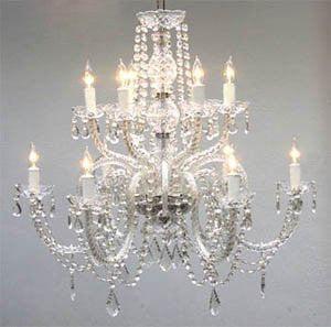 "Chandelier Lighting Crystal Chandeliers H27"" X W32"" - Go-A46-385/6+6"