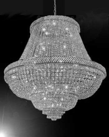 "Swarovski Crystal Trimmed Chandelier French Empire Crystal Chandelier Lighting H50"" X W50"" - G93-Silver/5050/448 Sw"