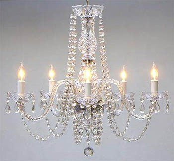 "Empress Crystal (Tm) Chandelier Lighting H25"" X W24"" - Go-A46-384/5"