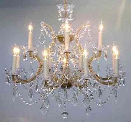"Chandelier Crystal Lighting Chandeliers 22X28 H22"" X W28"" - A83-Gold/1534/12+1"