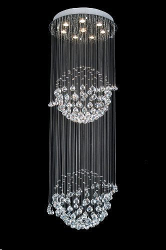 "Modern Contemporary Chandelier ""Rain Drop"" Chandeliers Lighting With Crystal Balls H72"" X W24"" - A93-809/8"