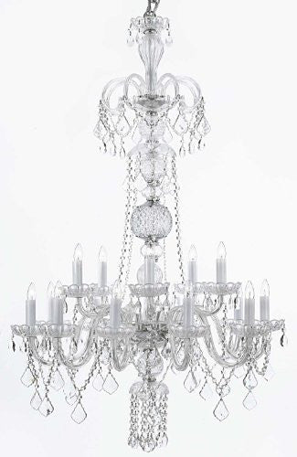 "Crystal Chandelier Lighting H48"" X W32"" - F46-Clear/590/15"
