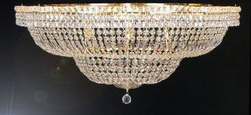 "Flush French Empire Crystal Chandelier Lighting H27.5"" W44"" - A93-Flush/Cg/454/24"