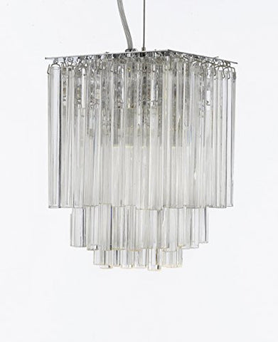 "Modern Contemporary Empress Crystal (Tm) Pendant Chandelier Lighting H 9"" X W 6"" - G7-B28/483"