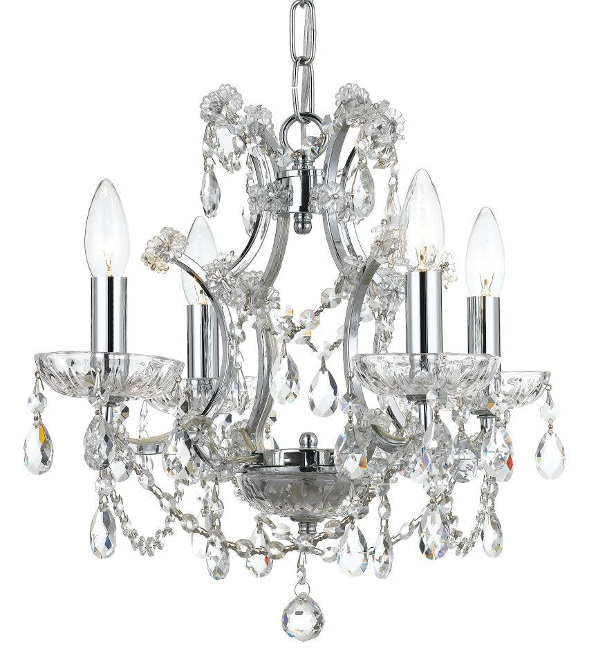 Clear Hand Cut Crystal Mini Chandelier - C193-4454-CH-CL-MWP