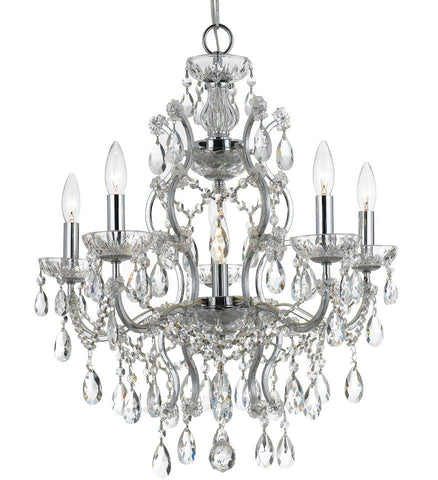 Clear Hand Cut Crystal Chandelier - C193-4455-CH-CL-MWP