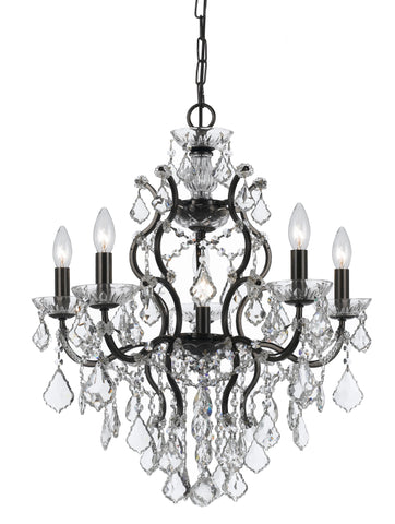 6 Light Vibrant Bronze Modern Chandelier Draped In Clear Spectra Crystal - C193-4455-VZ-CL-SAQ