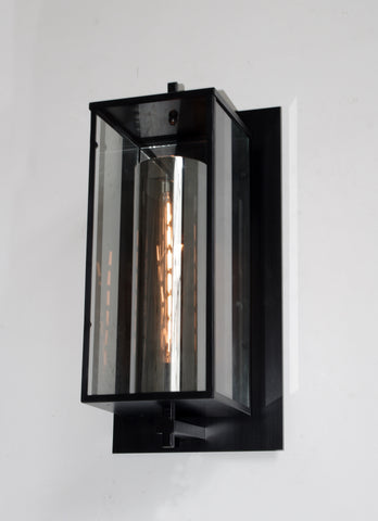 "DEVAUX GRAND SCONCE GREAT FOR INDOOR / OUTDOOR USE - WROUGHT IRON  VINTAGE BARN METAL INDUSTRIAL URBAN LOFT RUSTIC LIGHTING  - W 11.5"" H  23"" D 10.5"" - G7-15/4535/1"