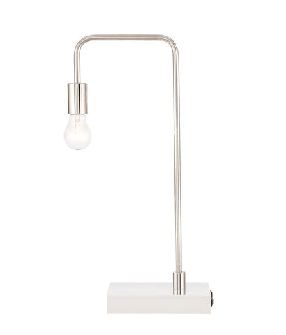 ZC121-TL3048PN - Regency Decor: Marceline 1 light Polished Nickel Table Lamp