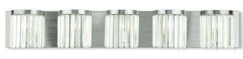 Livex Ashton 5 Light Brushed Nickel Bath Light - C185-50535-91