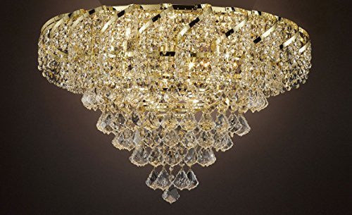 "French Empire Empress Crystal(Tm) Flush Chandelier Lighting H 18"" W 26"" - Cjd-Flush/B7/Cg/2173/26"